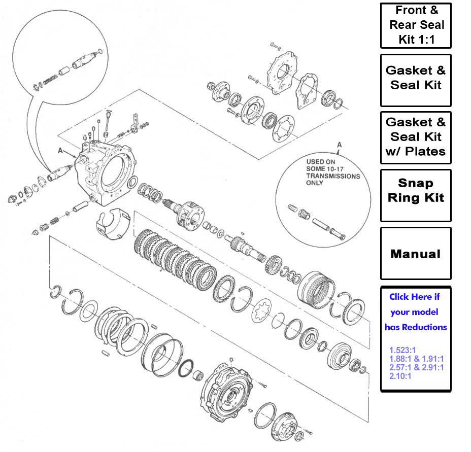borg warner velvet drive parts list 71c 72c transmissions