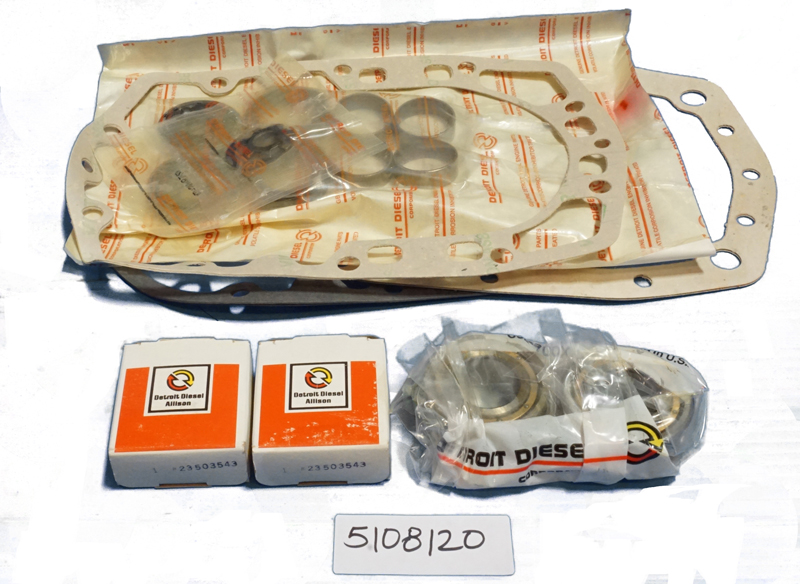 Blower Repair Kit Non-Turbo Small Bearing Detroit Diesel 5108120