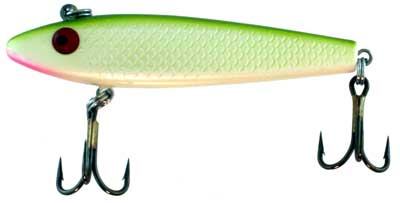 Sinking Hard Bait, Green Back, White Body with Pink Mouth, 3.5 Inch