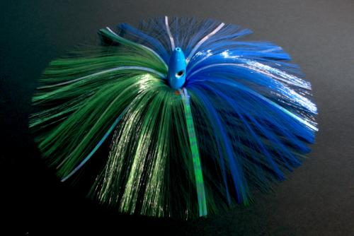 180G Blue Bullet Head with Green/Blue Hair with Mylar Flash