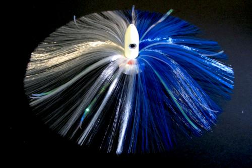 270G Glow Bullet Head with Blue/White Hair with Mylar Flash