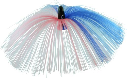 Witch Lure, Black Bullet Head, 60g, with 7 Inch Blue, Pink Hair