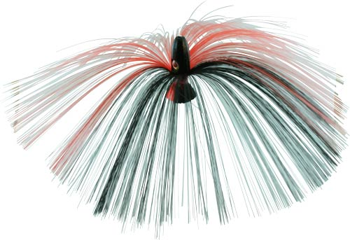 Witch Lure, Black Bullet Head, 60g, with 7 Inch Red, Black Hair