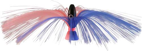 Witch Lure, Black Bullet Head, 95g, with 7 Inch Blue, Pink Hair