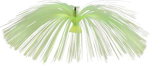 Witch Lure, Chrome Flash Head, 17g, with 6-1⁄2 Inch Chartreuse Hair