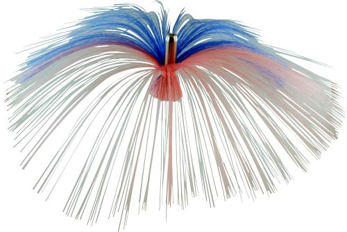 Witch Lure, Chrome Flash Head, 17g, with 6-1⁄2 Inch Blue, Pink Hair