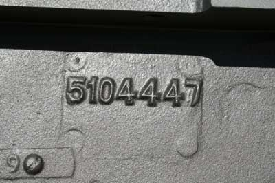 Numbers  marked  on  Bell  Housing