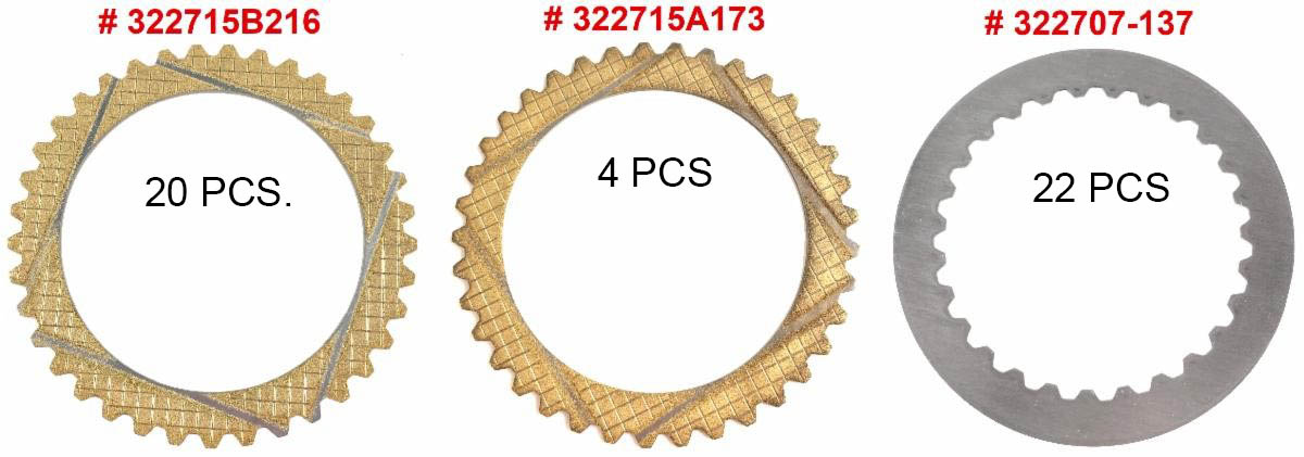 Clutch Plate Kit for ZF MarineTranmission IRM280 IRM280A Friction and Steel