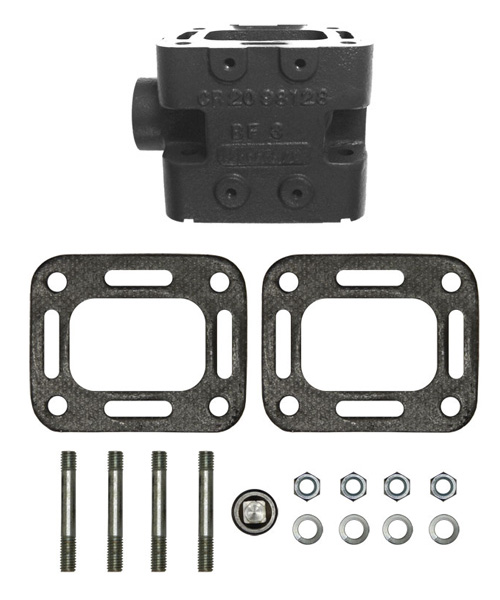 Exhaust Riser Spacer Block kit 4 Inch for Crusader XL Series 98128