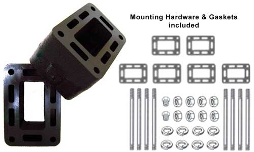 Riser Spacer Extension Block 3 Inch Mercruiser V8 Long Log Style 61811A4