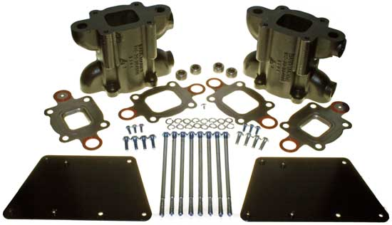 "Replaces 864929A3 Riser Spacer Kit 3/"" Dry Joint Exhaust V6 V8 MerCruiser Barr"