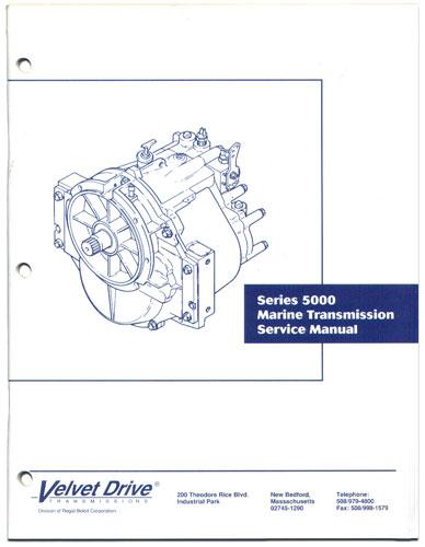 Service Repair Parts Manual Borg Warner Velvet Drive 5000 ...