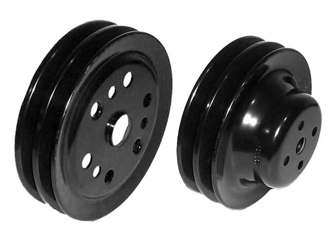 Pulley 2 Groove 6-3//4 inch Crank for GM V6 /& Small Block V8 Marine R065014