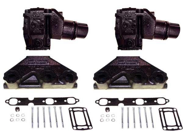 Manifold Exhaust Kit For Volvo Penta SX GM 262 4 3L V6 94 Up BPIV6VOL