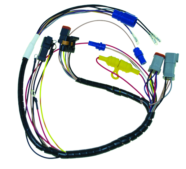 wiring and harnesses for johnson evinrude outboards rh bpi ebasicpower com boat motor wiring harness mercury boat motor wiring harness