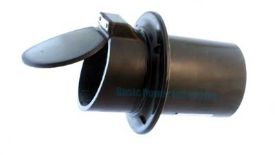 Thru Hull Marine Wet Exhaust Fitting 4 Inch With Flapper