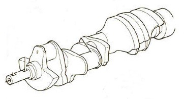Crankshaft Assembly (LH Rotation), Crusader