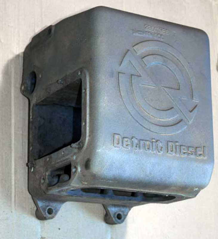 Marine Heat Exchanger Tank, Detroit Diesel 92 Series 23501986-292 Series Detroit Diesel marine heat exchanger tank