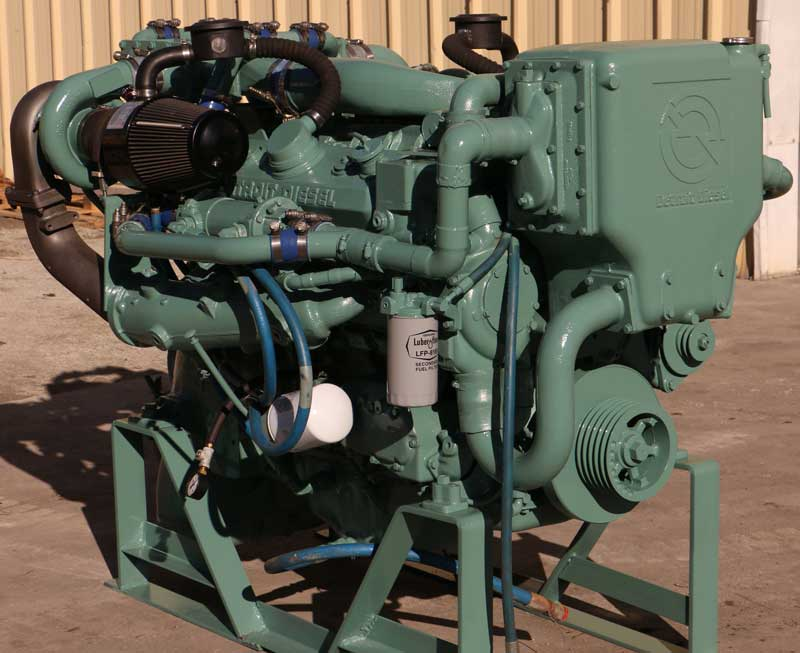 Detroit Diesel 8V71TTI 430 HP Twin Turbo Aftercooled with Allison MH 3.0:1 Transmission