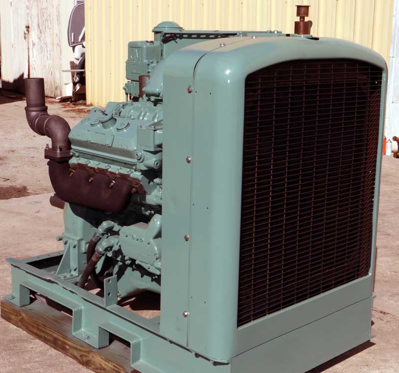 Detroit Diesel 6V71 Power Unit with heavy duty Rockford PTO Power Takeoff
