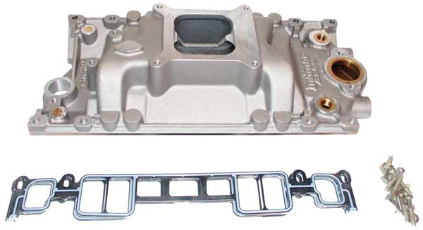 Manifold Intake Marine Aluminum with Bronze Crossover GM 305 350 Vortec V8