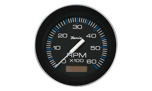Tachometer 6K with Hourmeter, Coral (TC9126) 4 Inch