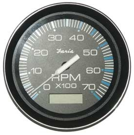 Tachometer 7K with Hourmeter, Coral (TC9105) 4 Inch