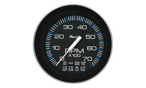 Tachometer, System Check 7K, Coral (TC9882) 4 Inch