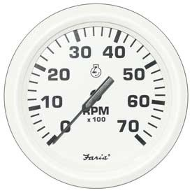 Tachometer 7K Dress White (TC9866) 4 Inch