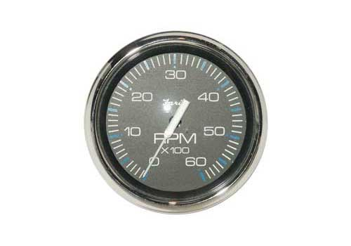 Tachometer 6K, Chesapeake Black Stainless Steel (TC9785) 4 Inch