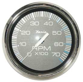 Tachometer 7K, Chesapeake Black Stainless Steel (TC9862) 4 Inch