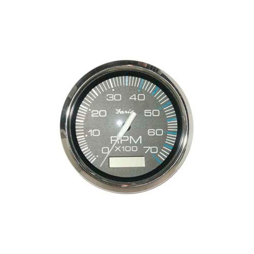 faria marine tachometer 7k with hourmeter chesapeake black stainless 4 inch
