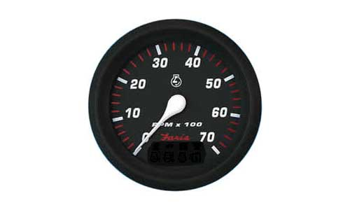 Tachometer 7K, Professional Red (TC9932) 4 Inch