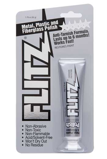 Polish Paste Metal Plastic Fiberglass 1.76 oz Blister Tube Flitz BP 03511