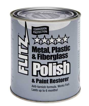 Polish Paste Metal Plastic Fiberglass 2 lb 1 Quart Can Flitz CA 03518-6