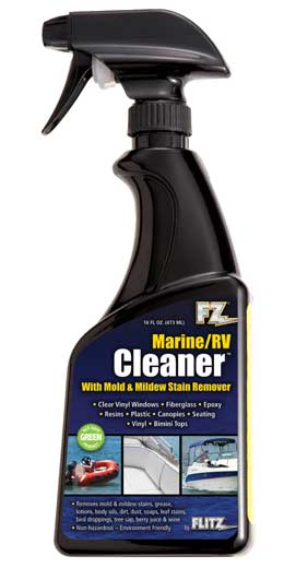 Cleaner Marine RV with Mold-Mildew Stain Remover 16 oz Spray Bottle Flitz MAC 20206