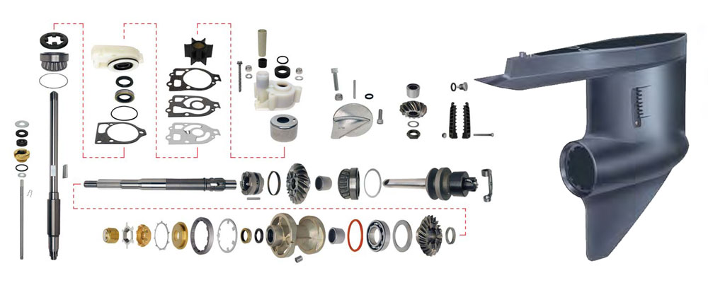 Lower Unit Rebuild Kit For Mercruiser Outdrive Mr Alpha