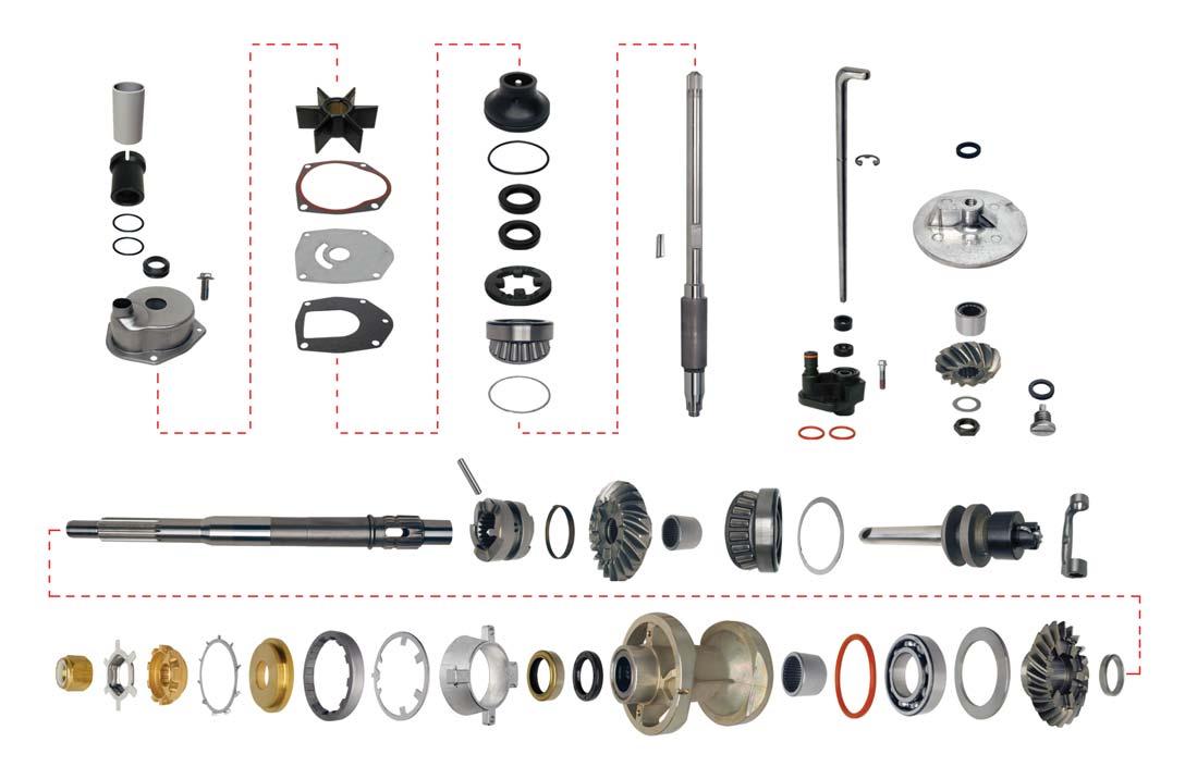 Gear Housing Rebuild Kit, Mercruiser MR, Alpha One 91-95 [GLM25190] -  $1,129 95