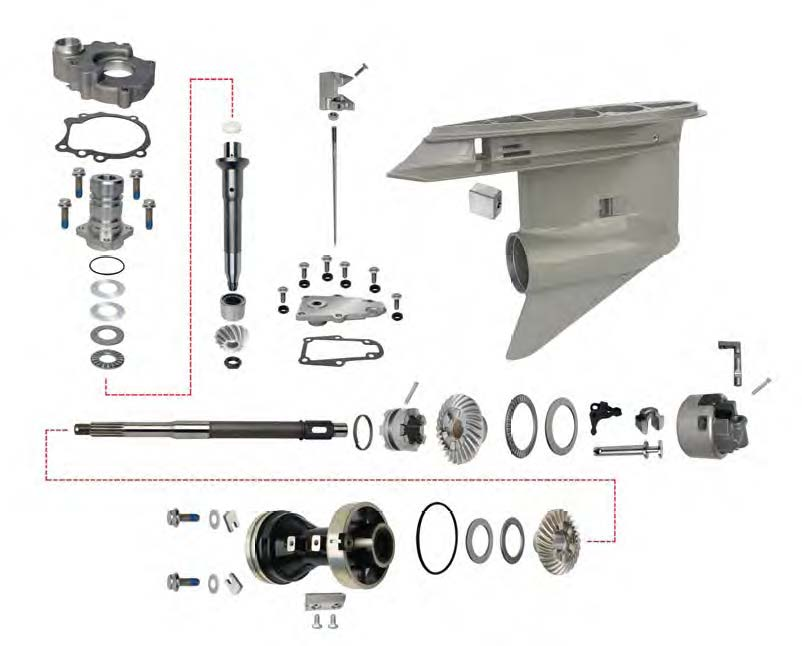lower units and parts for omc sterndrives johnson outboard lower unit diagram omc lower unit diagram #12