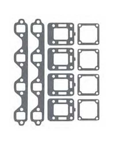 manifold gasket set for mercruiser ford 302 351 v8 log style replaces 27
