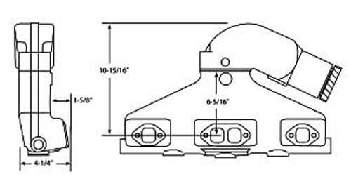 exhaust manifold riser kit for volvo penta gm 305 350 1979