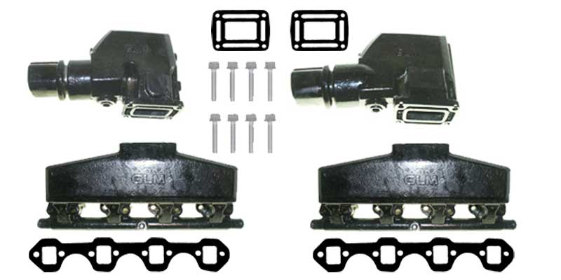 Manifold Riser Exhaust Kit for OMC Ford Small Block V8 EFI GLM58491