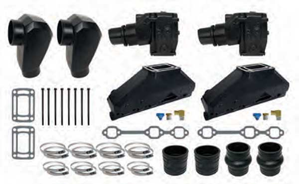 Exhaust Manifold Kit - Replaces 86, 87, 88, 90 OMC 262 4.3L V6 1-Piece Manifold