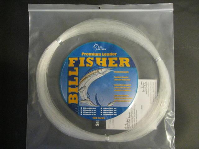 SEA STRIKER BillFisher Mono Leader Coil 80Lb .90mm 100 Yd Clear LC100-80