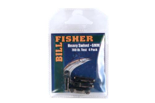 Billfisher HSB4-5PK Heavy Swivels 4mm 300Lb Black 5Pk
