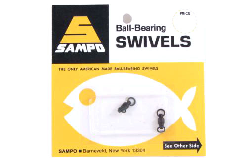 Sampo BX3RB BB Welded Ring Barrel Swivel Black 60Lb Bubble Cd/2Pk