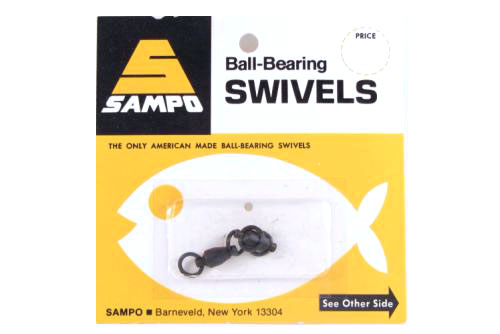 Sampo BX4RB BB Welded Ring Barrel Swivel Black 150LB Bubble Cd/2Pk