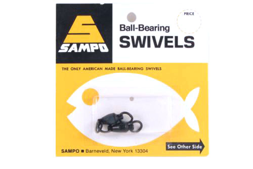 Sampo BX5RB BB Welded Ring Barrel Swivel Black 200Lb Bubble Cd/2Pk