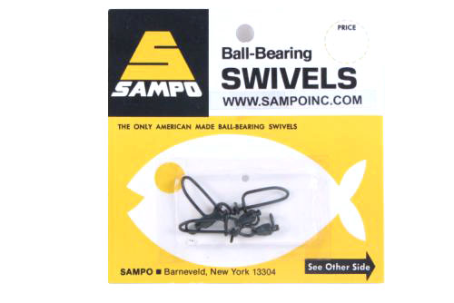 Sampo BX3CB BB Coastlock Snap Swivel Black 60Lb Bubble Cd/3Pk