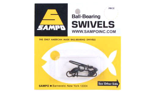 Sampo BX4CB BB Coastlock Snap Swivel Black 150Lb Bubble Cd/2Pk